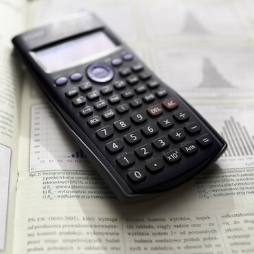 Vancouver math tutoring page featured image of calculator
