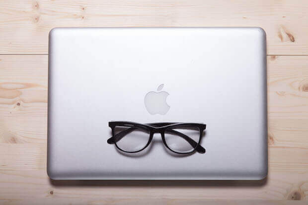 computer with glasses - featured image for article on benefits of open educational resources