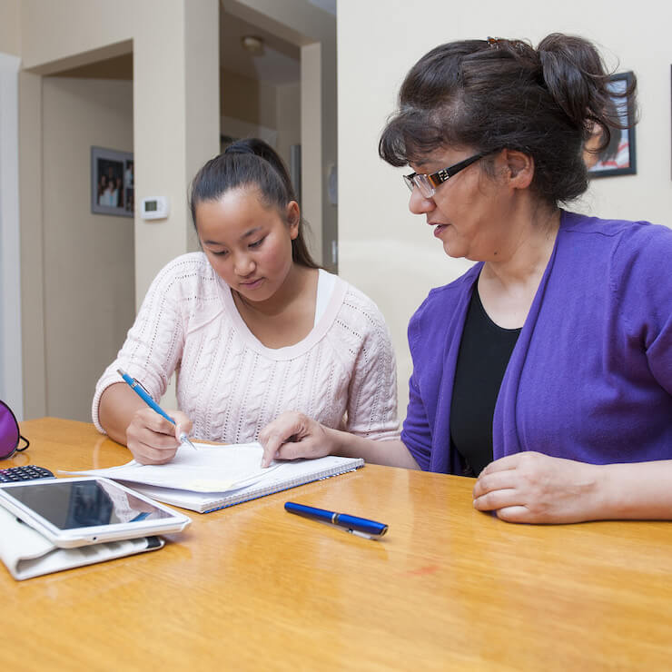 tutor and student in tutoring session in canada